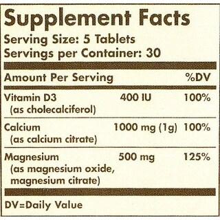 Solgar Calcium Magnesium With Vitamin D3 Tablets 150
