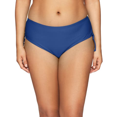 24th & Ocean Blue Womens Size 16W Plus Bikini Bottom Swimsuit
