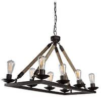 Artcraft Lighting CL279 Danbury 8-Light 1 Tier Billiard Chandelier - Black - n/a