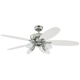 """Westinghouse 7255900 Panorama 52"""" 5 Blade Hanging Indoor Ceiling Fan with Revers"""