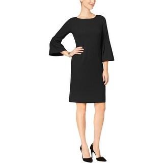 Jessica Howard Womens Petites Party Dress Bell Sleeves Knee-Length