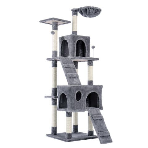"68"" Pet Cat Tree Tower Climbing Shelf"