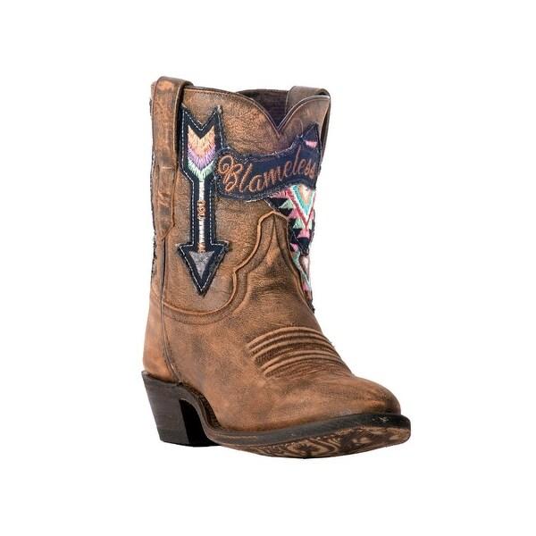 "Laredo Fashion Boots Womens Radical Blameless 8"" Embroidery Tan"