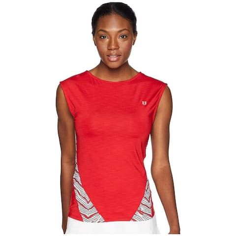 Eleven By Venus William Women's BackUp cap Sleeve, Red, Large