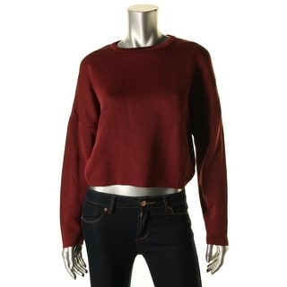 Zara Knit Womens Ribbed Trim Dolman Sleeves Pullover Sweater - M