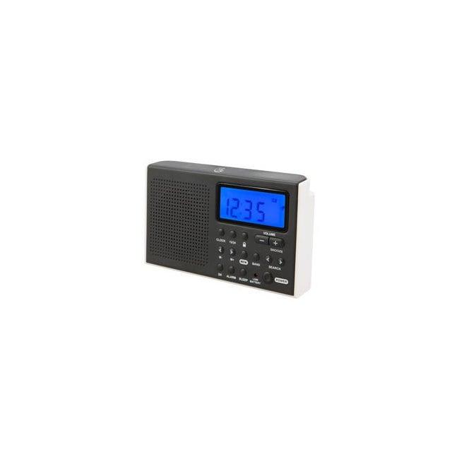 GPX AM//FM Portable Shortwave Radio with Digital Clock