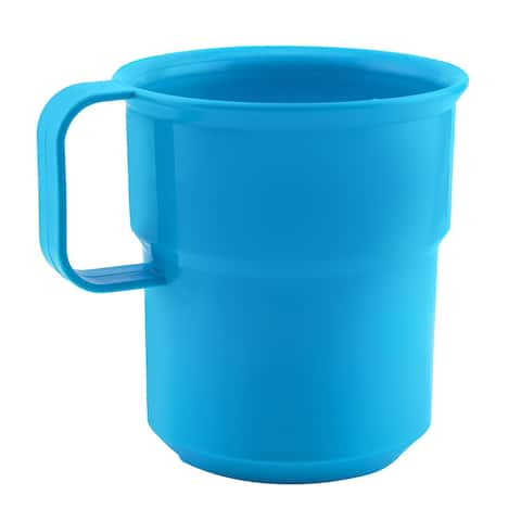 Break-Resistant Plastic Cup Mugs for Coffee, Juice - 8oz