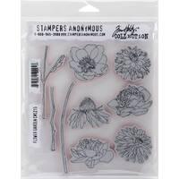 """Tim Holtz Cling Stamps 7""""X8.5""""-Flower Garden"""