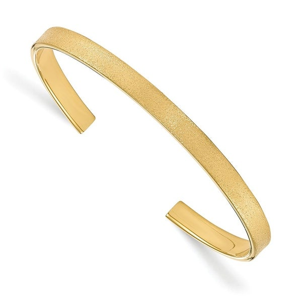Sterling Silver Radiant Essence Gold-plated Cuff Bangle