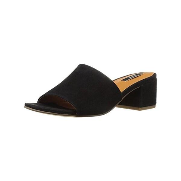 Kensie Womens Helina Dress Sandals Block Heel Open Toe