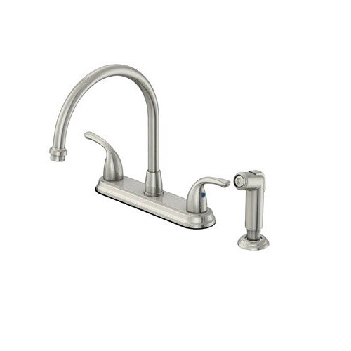 OakBrook F8FA0001CP ACA1 Pacifica 2 Handle Kitchen Faucet With Side Spray