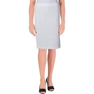 Lauren Ralph Lauren Womens Pencil Skirt Textured Side Slit