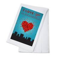 I Love You Alexandria, Virginia - LP Artwork (100% Cotton Towel Absorbent)