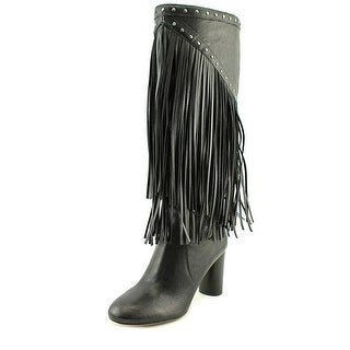 INC International Concepts Tolla Round Toe Suede Knee High Boot