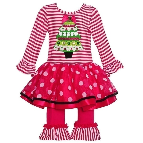 Rare Editions Christmas Toddler.Rare Editions Baby Girls Red Stripe Christmas Applique 2 Pc Pant Set