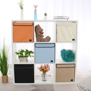 Fabric Storage Bins Baskets Foldable Cloth Storage Cubes Organizers for Closet