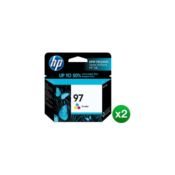 HP 97 Tri-color Original Ink Cartridge (C9363WN) (2-Pack)