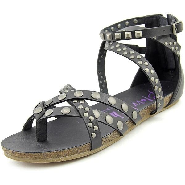 Blowfish Gush Women Open Toe Synthetic Black Gladiator Sandal