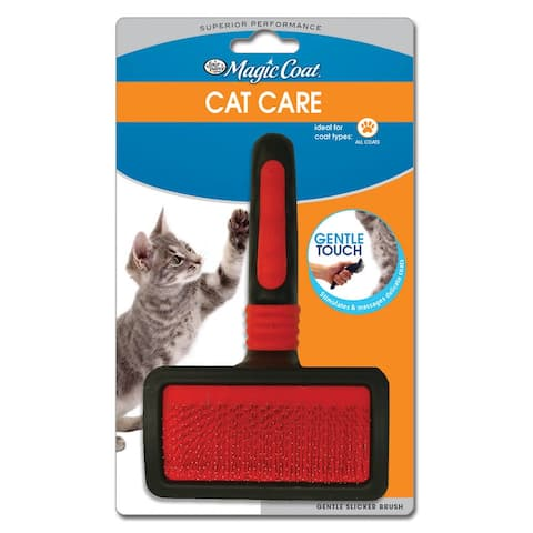 Four Paws Magic Coat Gentle Slicker Wire Cat Brush