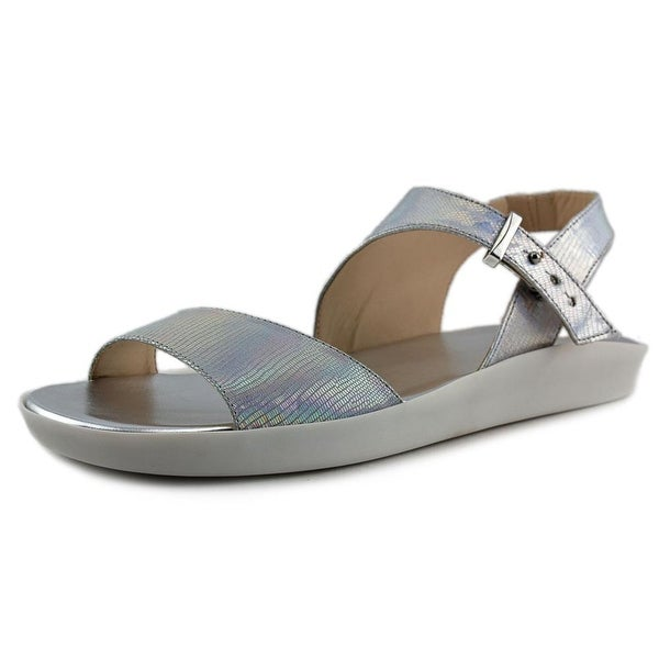 Nine West Izara Women Open Toe Synthetic Silver Sandals