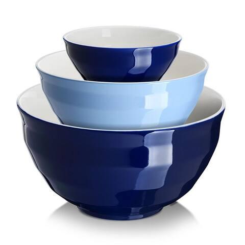 Dowan 3 Piece Ceramic Mixing Bowl Set