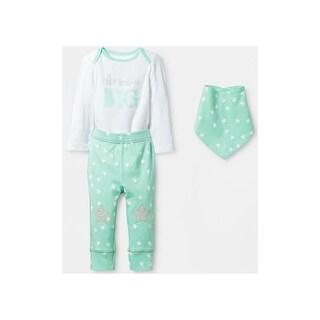 Cloud Island Unisex Baby 3-Piece Cotton Bodysuit Pant Bib Set - New Born
