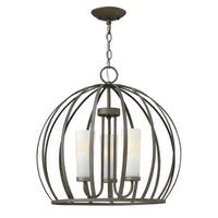 Fredrick Ramond FR32906 3-Light 1 Tier Chandelier from the Renata Collection - blacksmith