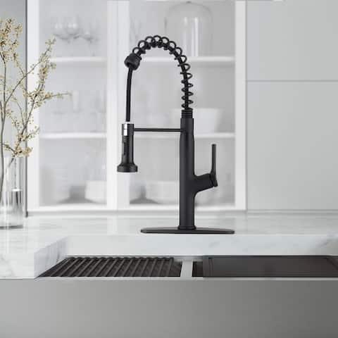 Single Handle Pulldown Sprayer Swivel Kitchen Faucet Gooseneck tap