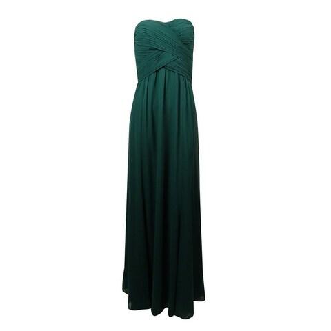 Lauren Ralph Lauren Womens Strapless Sweetheart Chiffon Dress