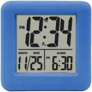 Equity by la crosse 70905 soft cube lcd alarm clock (blue)