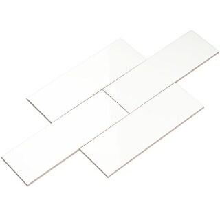 Link to Giorbello White Ceramic 4x12 Subway Tiles (Case of 11 Sq Ft) Similar Items in Tile