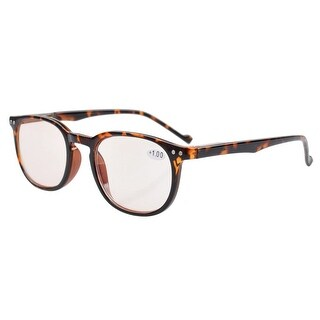 Eyekepper Computer Reading Glasses Anti-reflective,Anti-glare,UV Protection Men Women Tortoise +4.0