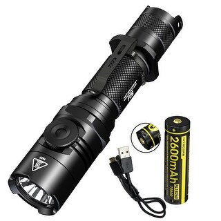 NITECORE P26 1000 Lumen Infinite Brightness Tactical Flashlight w/ USB Rechargeable Battery