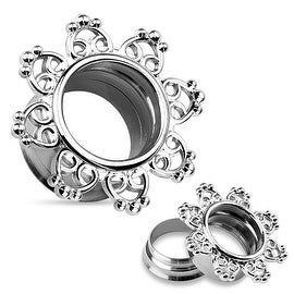 Tribal Hearts Filigree 316L Surgical Steel Internally Threaded Double Flared Tunnel (Sold Individually)
