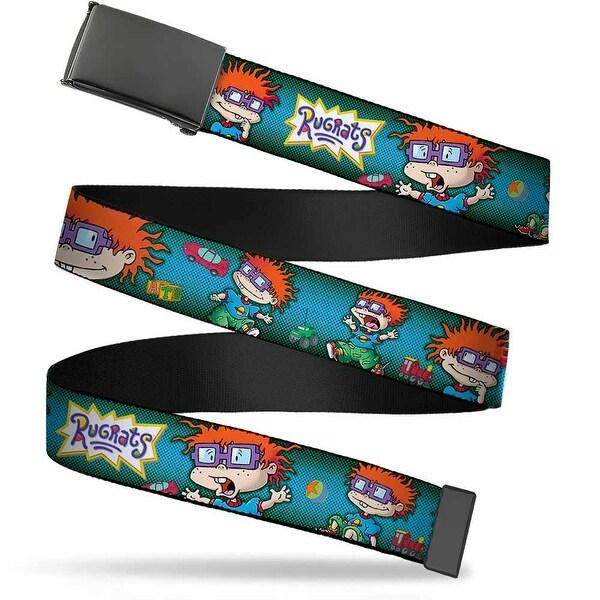 Blank Black Buckle Rugrats Chuckie Poses Webbing Web Belt
