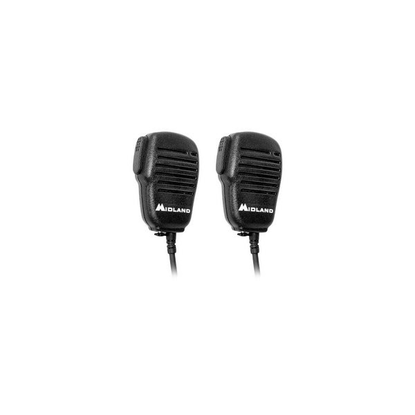 Midland AVPH10 Shoulder Speaker Mic with Dual Pin Connector -2 Pack