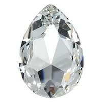 Swarovski Elements Crystal, 4327 Pear Fancy Stone 30x20mm, 1 Piece, Crystal F