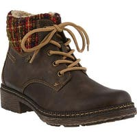 Spring Step Women's Marylee Ankle Boot Brown Synthetic