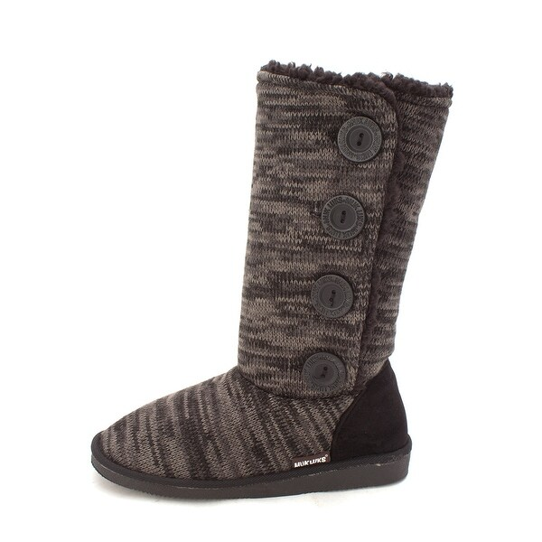 MUK LUKS Womens 16759 Fabric Closed Toe Mid-Calf Cold Weather Boots - 7