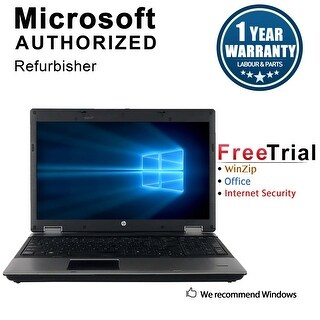 "Refurbished HP ProBook 6545B 15.6"" Laptop AMD-M520 2.3G 4G DDR3 250G DVDRW Win 10 Pro 1 Year Warranty - Silver"