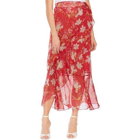 Vince Camuto Womens Wildflower Wrap Skirt