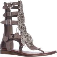 Carlos Carlos Santana Taos Flat Gladiator Sandals, Doe