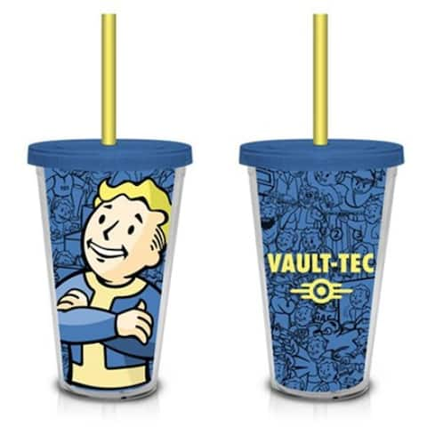 Fallout Vault Boy Vault-Tec (Blue) 18oz. Travel Cup with Straw - Multi