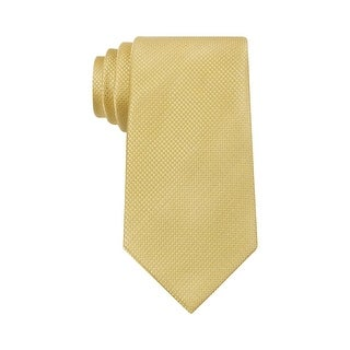 Sean John Holiday Unsolid Solid Classic Silk Neck Tie Gold - One Size Fits most