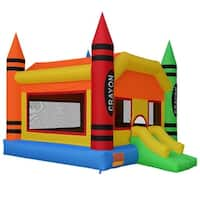 Cloud 9 Mighty Bounce House - Crayon - Inflatable Kids Jumper without Blower