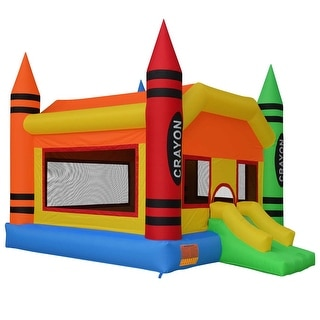 Cloud 9 Mighty Bounce House - Crayon - Inflatable Kids Jumper with Blower