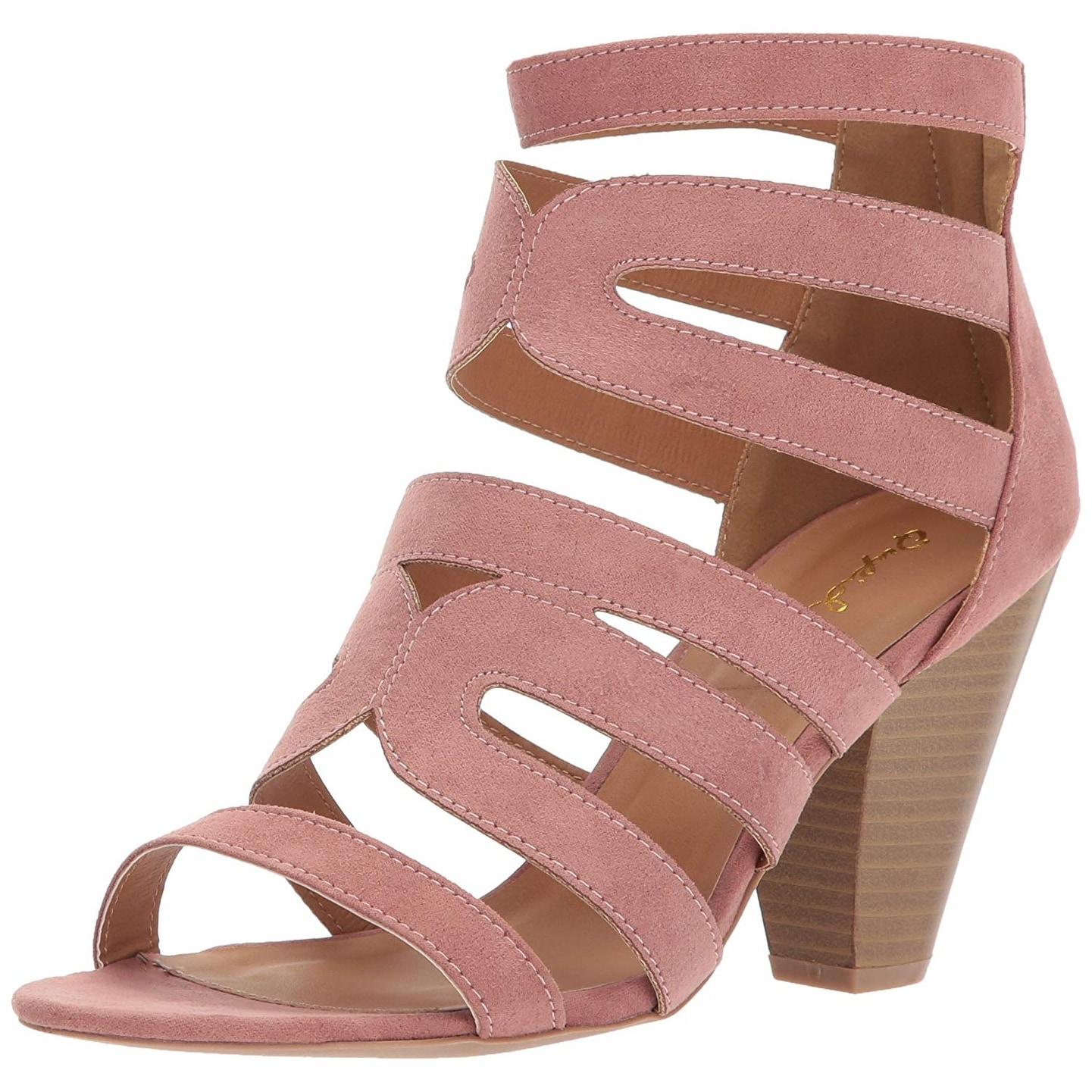 ac3aeb7bee5 Buy Black Qupid Women s Sandals Online at Overstock