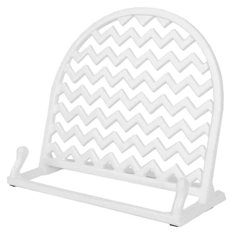 Home Basics Cast Iron Chevron Design Cookbook Stand, 10.5x5.5x9 Inches