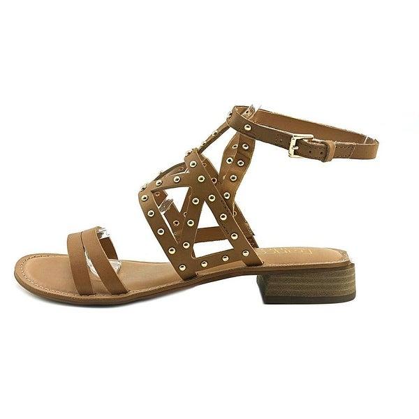 Franco Sarto Womens Apollo Leather Open Toe Casual Strappy Sandals - Tan Leather - 11