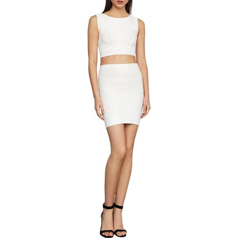 BCBG Max Azria Simone Women's Textured Stretch Mini Pencil Skirt